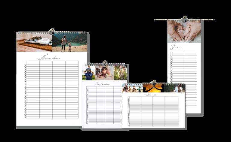 Familieplanner-alleformaten